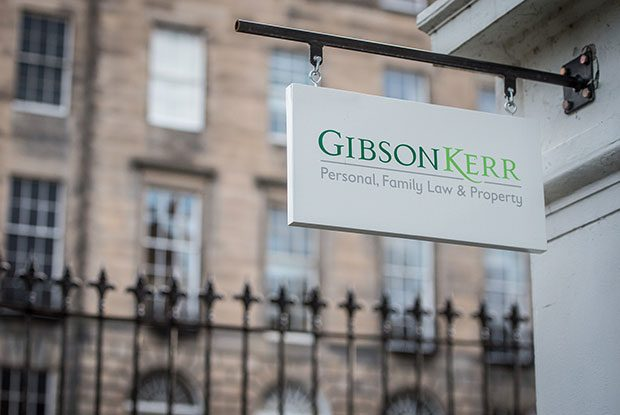Gibson Kerr sign outside office